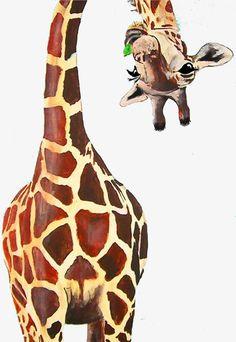 animal art Giraffe art perfect to display or add t - animals Animal Paintings, Animal Drawings, Art Paintings, Watercolor Paintings, Art Drawings, People Drawings, Disney Drawings, Pencil Drawings, Animal Painter