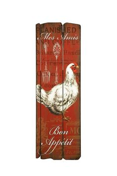 Rooster Shelf Sitter Set | Rooster kitchen decor, French style ...