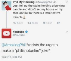 Whoever runs the YouTube twitter account, I love you.