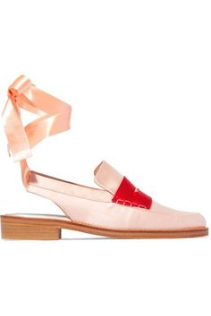 MR by Man Repeller | Two-tone satin loafers | NET-A-PORTER.COM