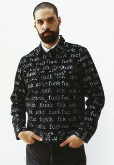 S/S 13 Fuck Printed Denim Jacket