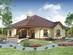 Projekat moderne prizemne kuće s garažom – Ramzes House Roof Design, House Outside Design, Home Building Design, Building A House, Villa, One Floor House Plans, Philippines House Design, Philippine Houses, Modern Exterior House Designs