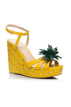 dominica pineapple wedges - Kate Spade New York Sock Shoes, Cute Shoes, Shoe Boots, Shoes Heels Wedges, Wedge Sandals, Pineapple Clothes, Fashion Shoes, Fashion Accessories, Summer Wedges