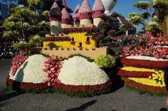 Philippines = MORE Parade  Panagbenga Festival is the equivalent of the Rose Parade. Tourists are allowed to feast their eyes on various fragrant blooms arranged in fascinating forms and sizes!