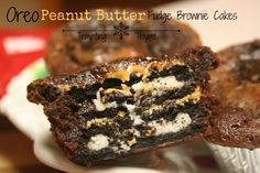 Peanut Butter Oreo Brownie Cakes + {Monday Night Football}