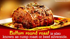 Contrary to popular belief, beef bottom round roast is quite flavorsome. It has very low fat content which can make it quite tough, but cook it properly, and you will be left with 'melt in the mouth' succulent meat. Slow Cooker Round Roast, Pork Roast In Oven, Slow Cooked Beef, Pot Roast, Roast Beef Recipes, Grilling Recipes, Slow Cooker Recipes, Crockpot Recipes, Cooking Recipes