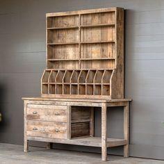Rustic Wood Herb Cabinet