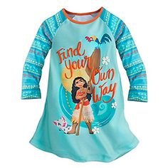 DISNEY STORE PRINCESS MOANA NIGHTSHIRT NIGHTGOWN PAJAMAS  GIRLS  2016 56 >>> BEST VALUE BUY on Amazon  #DisneyShirts
