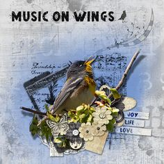 Last additions - patricia - Music on Wings - Scrap Art Studio Gallery