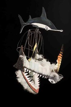 In the Torres Strait Islands, dance is a major form of creative and competitive expression. This dance headdress was made by Ken Thaiday Snr in 1989. It represents the Hammerhead shark, Beizam. #torresstrait #culturalhistory #exhibitions #museum #collection