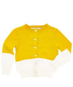Stella McCartney Kids Age 3M to 18M Yellow Lauren Two-Tone Cardigan