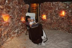 story time in the cave! Asheville Salt Spa