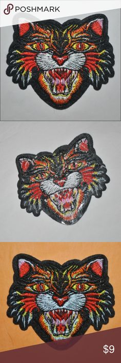 Vintage Black Cat Patch BRAND NEW // tags: rockabilly goth halloween holidays horror cats gothic spooky spook creeper creep creepy scared scream screaming classic meow teeth biker gang jacket jackets gangs witch witchcraft witchy rad badass statement wild crazy cool rebel rebellious style awesome amazing patches diy customize accessories accessory custom wicked craft jean jeans bag back embroidered stitched stitch fun party present mens men womens women unique unisex gifts gift punk rock…
