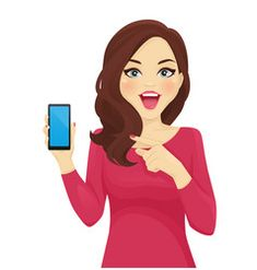 Surprised woman pointing phone vector image on VectorStock Fashion Illustration Sketches, Illustration Art, Free Vector Images, Vector Free, Apple Logo Wallpaper Iphone, Happy Birthday Girls, Oriflame Cosmetics, Lovely Girl Image, Retro Logos