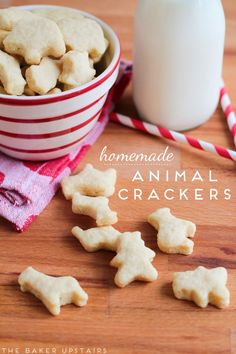 Homemade Animal Crackers! These little animals shapes are so adorable.