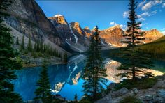 MORAINE LAKE, Alberta, Canada is a glacially fed lake in Banff National Park, 14 kilometres (8.7 mi) outside the Village of Lake Louise. It is situated in the Valley of the Ten Peaks, at an elevation of approximately 6,183 feet (1,885 m).
