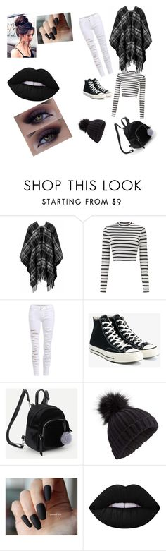 """""""my emo Daily look"""" by kitkatgaming ❤ liked on Polyvore featuring Miss Selfridge, Converse and Lime Crime"""