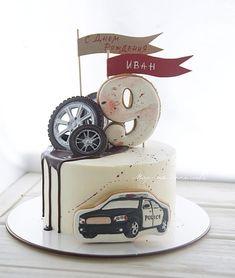 Beautiful Birthday Cakes, Beautiful Cakes, Amazing Cakes, Carros Vintage, Fondant, Cakes For Men, Novelty Cakes, Drip Cakes, Cream Cake