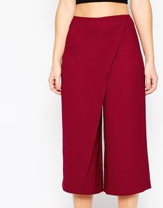 Image 3 ofASOS Culotte Trouser with Wrap Front