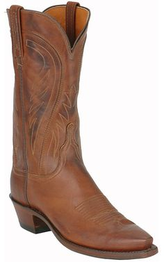 Lucchese 1883® Ladies Ranch Hand Brown Cowboy Boots