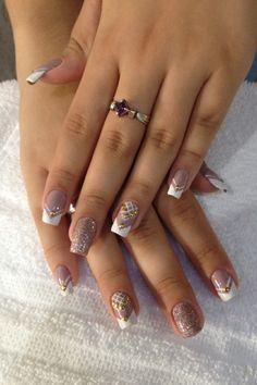 #Nails #NailsArt #AmazingNails #Manicure Gorgeous Nails, Love Nails, Fun Nails, Pretty Nails, Cute Acrylic Nails, Glitter Nails, Nail Polish Designs, Nail Art Designs, French Tip Design