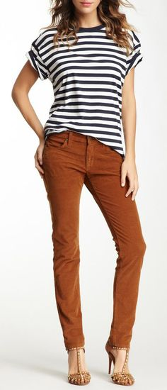 James Jeans Neo Beau Corduroy Boyfriend Pant. For some reason Iike this outfit just not really the shoes