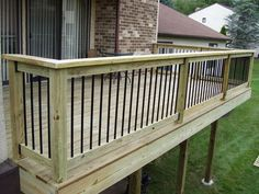 Wood - Pressure Treated Lumber Deck w/Aluminum Balusters By: MJ Cannon Home Enhancements, Inc. New Deck, Back Deck, Wood Deck Railing, Composite Decking, Modern Traditional, Pergola, Windows, Patio, Outdoor Decor
