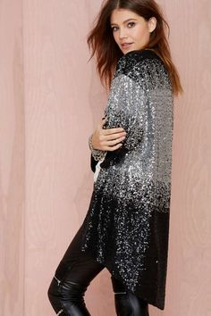 Nasty Gal Cold Hard Flash Kimono - Kimono | Jackets + Coats | Shine On | Disco | All | Cyber Monday Jackets