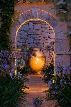 Mediterranean style garden.