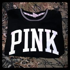VS PINK Sweater. Perfect condition. Fits more like a medium. Super cute. Got from another Posher, but unfortunately it did not fit. :(  Feel free to make offers USING THE OFFER BUTTON ONLY. Thank you!! Will trade. PINK Victoria's Secret Tops Sweatshirts & Hoodies