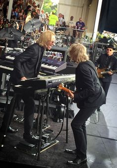 By amazing coincidence, two members of the Elton John Band, guitarist and Music Director Davey Johnstone and keyboard player Kim Bullard, celebrate a birthday today.