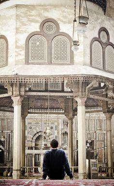 inside el sultan hassan mosque