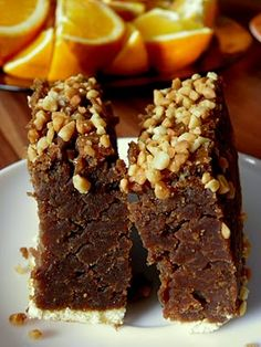 Bajaderka - traditional Polish cake with nuts, rum and cocoa.