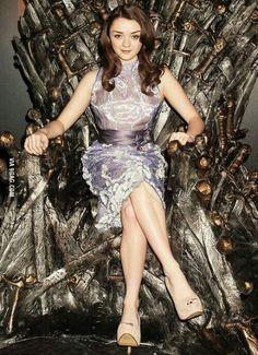 A girl has a Throne.