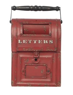 'Draper' Metal Red Letterbox from Domayne