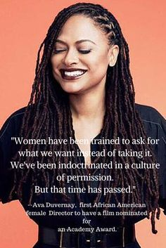 Ava Duvernay on the way women are used to not asking for what they want. Great advice for women on taking risks and taking what we want. From the blogher15 conference in NYC.