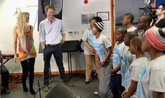"""During his surprise visit, the British royal asked the children, """"Are you excited about tomorrow night? Lots of people, you'll be fine. I'm probably more nervous than you are. If you want to start freestyling, nobody is going to stop you."""""""