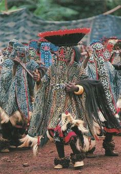 Africa | The Bamileke of Cameroon || Scanned postcard.