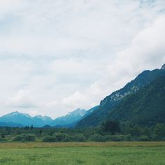 Mountains and meadows. Oberammergau.