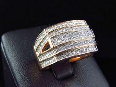 10K ROSE GOLD 1.80 CT MENS DIAMOND ENGAGEMENT RING WEDDING PINKY RING BAND #aonebianco #WeddingBandRing