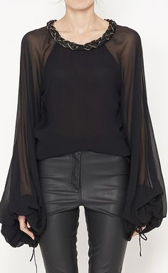 Astier Black And Gold Top