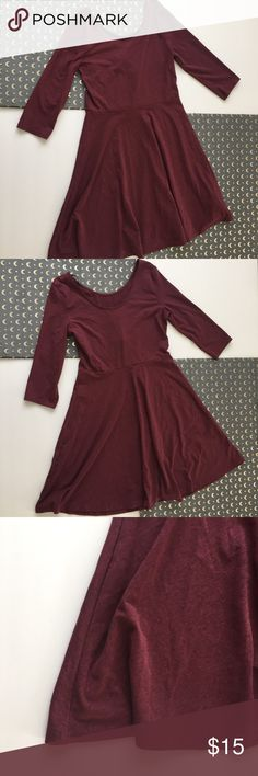 a3da4725ca6 Divided maroon skater dress •New With Tags •divided by H M •Simple  heathered maroon