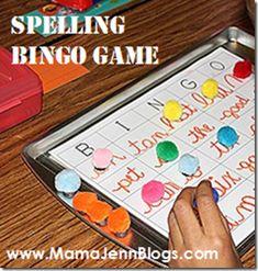 Spelling Bingo and other Kindergarten/1st grade activities - great website over all