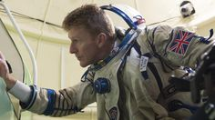 ESA astronaut Timothy Peake in the full-scale mockup of the Soyuz spacecraft at the Gagarin Cosmonaut Training Centre, Russia, 15 October Space Tv, Space Photos, Soyuz Spacecraft, Training Center, Space Exploration, Astronaut, Challenges, Science, October 2014