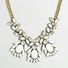 J. Crew White Statement Necklace Brand new with dust bag. J. Crew Jewelry Necklaces