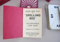 To Bee or not To Be...  1930s Spelling Bee Red Box Edition Waddy Productions by FillyGumbo, $50.00