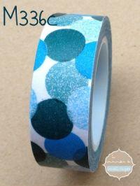 Washi Tape confeti azul