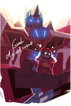 Optimus prime and Steven   This is so cool