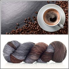 Expression Fiber Arts, Inc. - DARK ROAST SUPERWASH DEWY DK yarn - DARK ROAST - a saturated, deep espresso (reminds me also of chocolate) brown, with a splash of taupe gray. Mmm. Sip sip.
