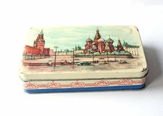 Vintage tin box from the Soviet Union